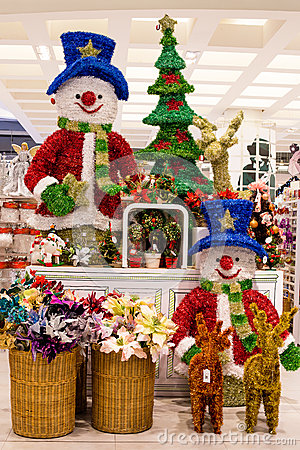 Free Rows Of Christmas Toys In A Supermarket Siam Paragon In Bangkok, Thailand. Royalty Free Stock Image - 35368586