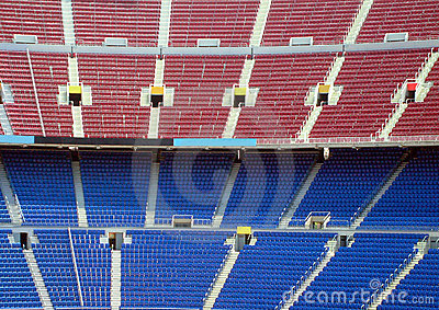 Rows of seating in stadium