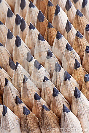 Rows Of Sharp Ground Graphite Wooden Texture Pencil Nibs ...