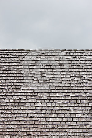 Rows of shingles on a roof