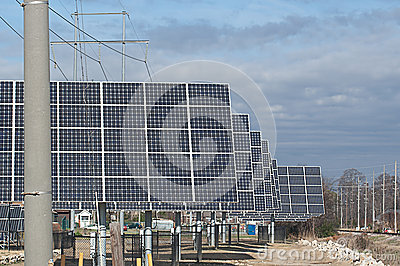Rows of Solar Energy Panels