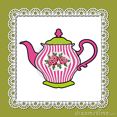 Różowy teapot