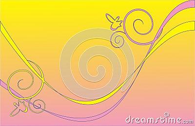 Różowy w tle żółty