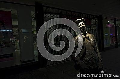 Roy  Mo  Rene Memorial at night Editorial Image