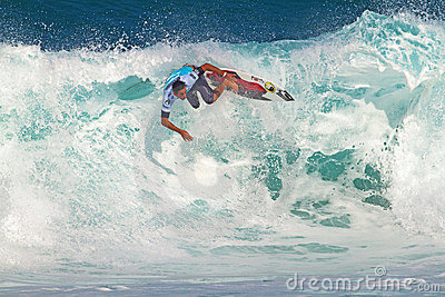 Roy Powers Surfing in the Pipeline Masters Editorial Stock Image