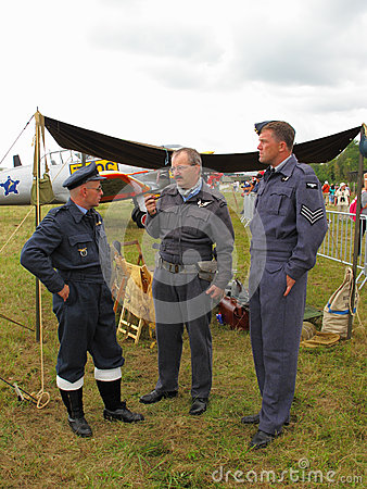 Royal Air Force crew Editorial Stock Photo