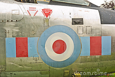Royal Air Force markings.