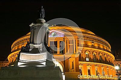 Royal Albert Hall at night