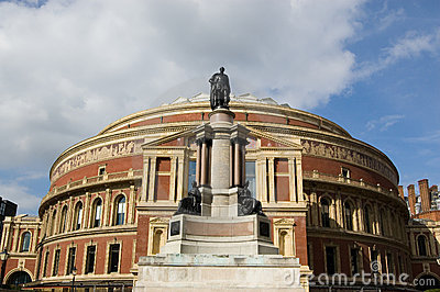 Royal Albert Hall and Prince Albert Statue, Kensin