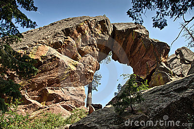 Royal Arch rock formation in Boulder, Colorado