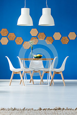Free Royal Blue Dining Room Inspiration Royalty Free Stock Images - 97689289
