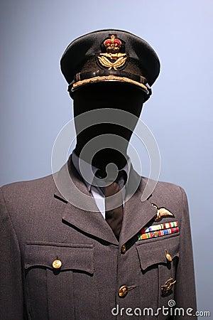 Royal Canadian Air Force uniform.
