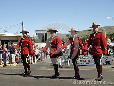 Royal canadian mounted police. Editorial Photo