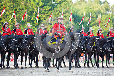 Royal Canadian Mounted Police Musical Ride Editorial Stock Image