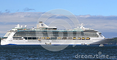 Royal Caribbean Radiance of the Seas Cruise Ship in Alaska Editorial Stock Image