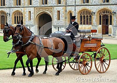 Royal Carriage Windsor Castle UK Editorial Image