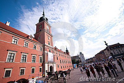 Royal Castle in Warsaw Editorial Stock Photo