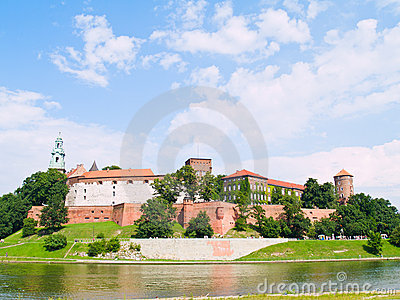 Royal castle in Wawel, Poland