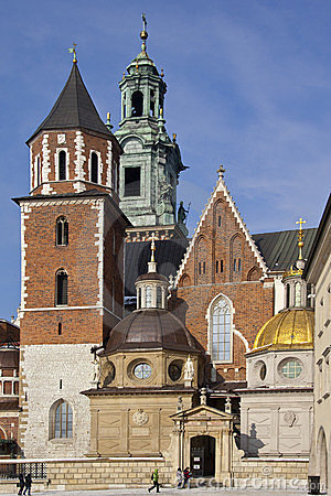 Royal Cathedral - Krakow - Poland Editorial Stock Photo