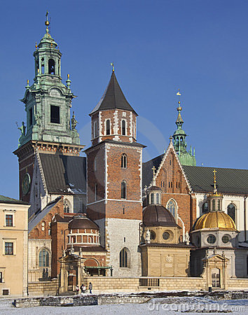 Royal Cathedral - Wawel Castle - Krakow - Poland Editorial Image
