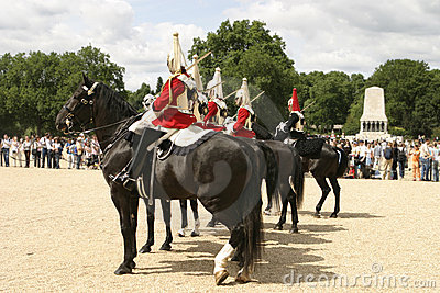 Royal Cavalry On Parade Editorial Stock Image