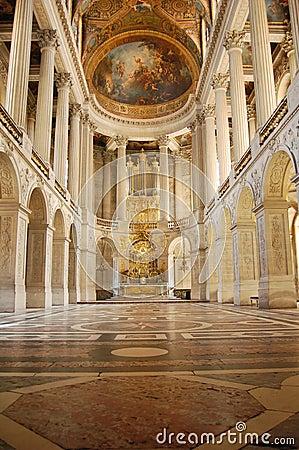 Royal Chapel of Versailles Palace, France Editorial Stock Photo