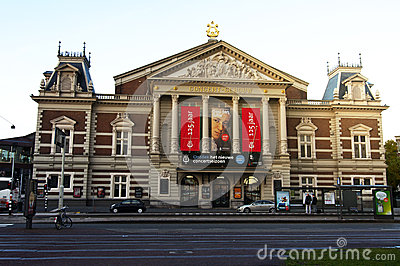 The Royal Concertgebouw in Amsterdam Editorial Stock Photo