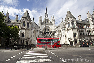 Royal Court of Justice London Editorial Stock Photo
