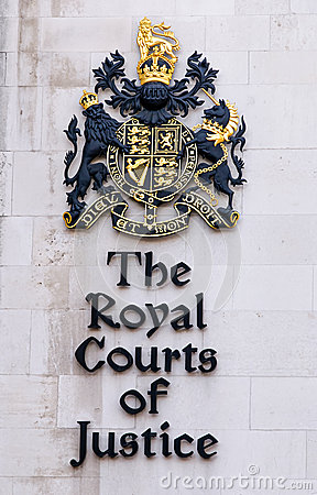 Royal courts london sign