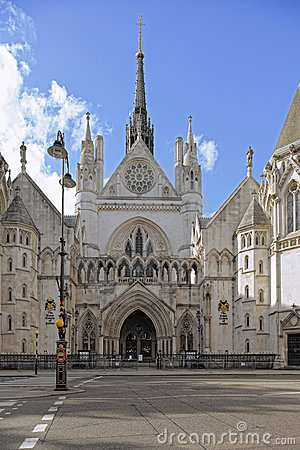 Free Royal Courts Of Justice, Strand, London, England Stock Images - 15522134