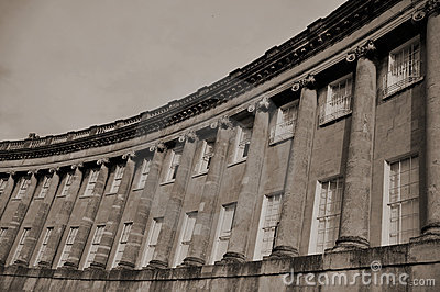 The Royal Crescent in Bath England