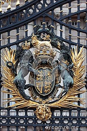 Royal Crest at Buckingham Palace Gate