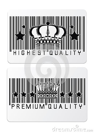 Royal crown barcode shopping  labels