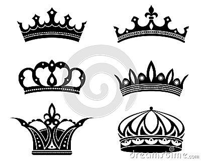 Royal crowns and diadems