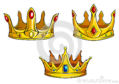 Royal crowns set