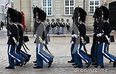 The Royal Danish Life Guards Editorial Photo