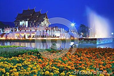 Royal Flora temple (ratchaphreuk) Chiang Mai,Tha