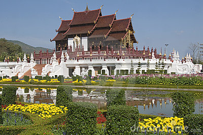 Royal Flora temple in Thailand