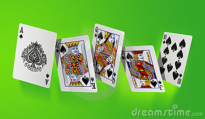 Royal flush - high resolution file