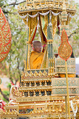 Royal Funeral in Bangkok, April 2012 Editorial Stock Photo