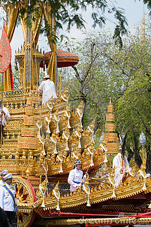 Royal Funeral in Bangkok, April 2012 Editorial Photo