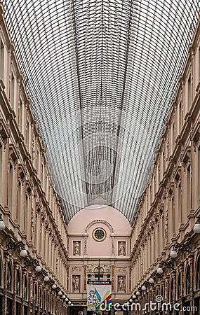Royal Galeries of Saint Hubert Brussels Belgium Editorial Stock Image