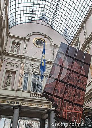 Royal Galeries of Saint Hubert Brussels Belgium Editorial Stock Photo