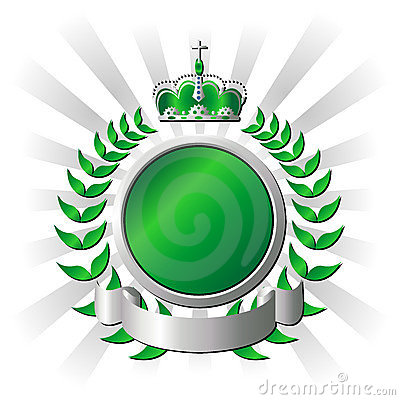 Free Royal Green Shield Stock Image - 2921321