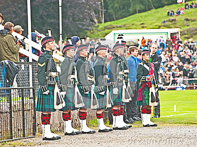 Royal Guard at Braemar Editorial Photo