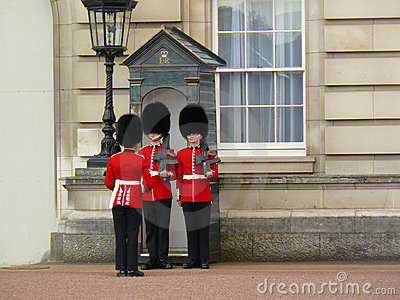 Royal guard at Buckingham Palace Editorial Photography