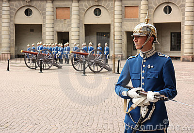 Royal Guard change, Stockholm Editorial Stock Image