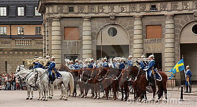 Royal Guard change, Stockholm Editorial Photography