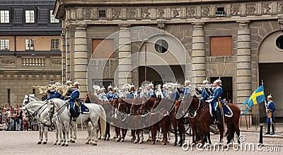 Royal Guard change, Stockholm Editorial Photography