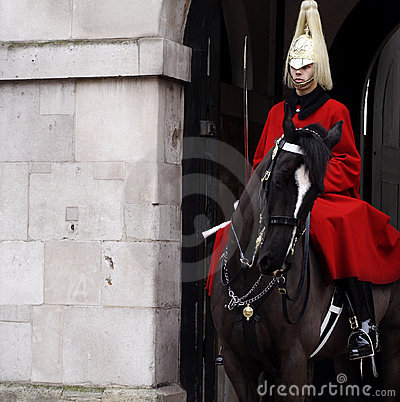 Royal Guard on horse Editorial Photo